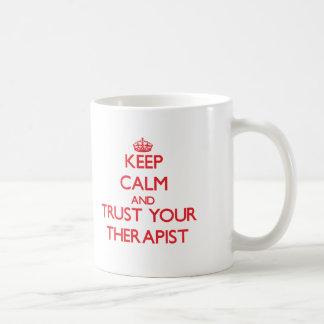 Keep Calm and trust your Therapist Basic White Mug