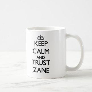Keep Calm and TRUST Zane Coffee Mugs