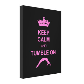 Keep calm and tumble gymnast canvas print