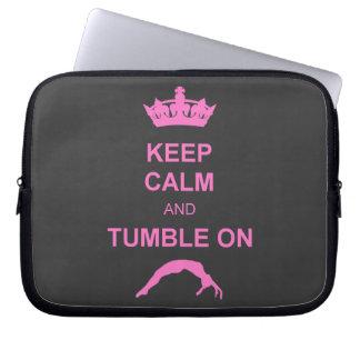 Keep calm and tumble gymnast computer sleeve