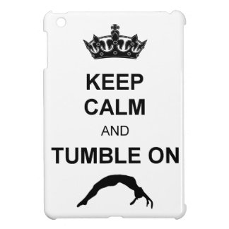 Keep calm and tumble gymnast iPad mini case