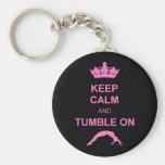 Keep calm and tumble gymnast keychains