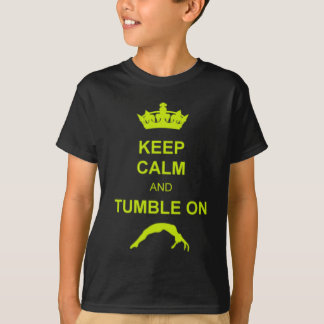 Keep calm and tumble gymnast kids shirt