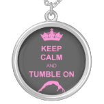 Keep calm and tumble gymnast necklace
