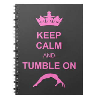 Keep calm and tumble gymnast notebook