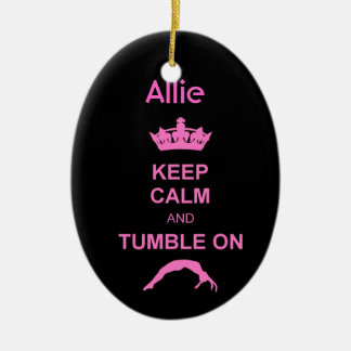 Keep Calm and Tumble gymnast ornament