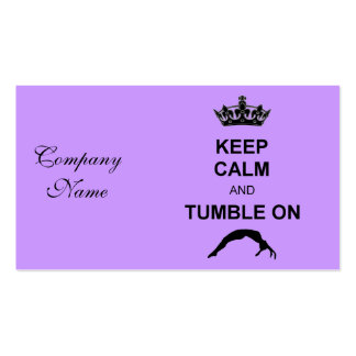 Keep calm and tumble gymnast pack of standard business cards
