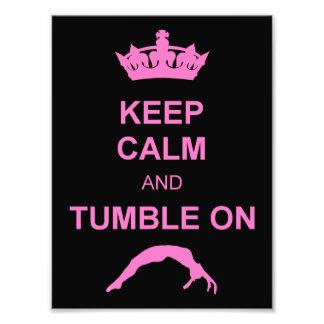 Keep calm and tumble gymnast photo art