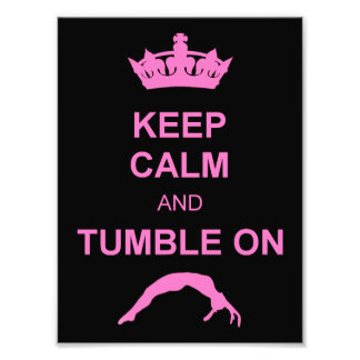Keep calm and tumble gymnast photo print