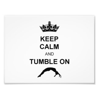 Keep calm and tumble gymnast photographic print