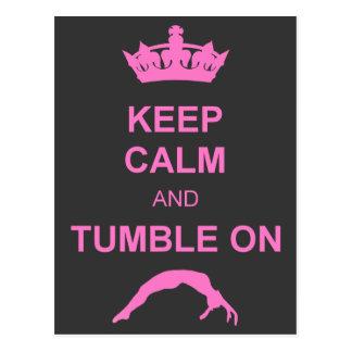 Keep calm and tumble gymnast postcard