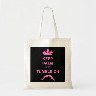 Keep calm and tumble gymnast tote bag