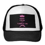 Keep calm and tumble gymnast trucker hat