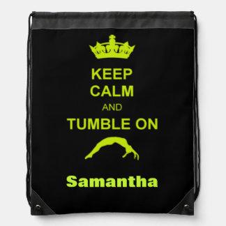 Keep Calm and tumble on cinch sack backpack
