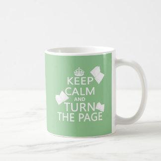Keep Calm and Turn The Page Basic White Mug