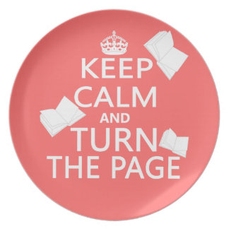 Keep Calm and Turn The Page Plate