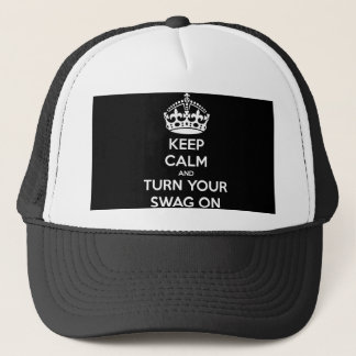Keep Calm and turn your swag on Trucker Hat