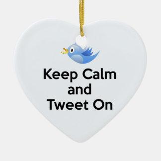 Keep Calm and Tweet On, Bluebird Christmas Ornament