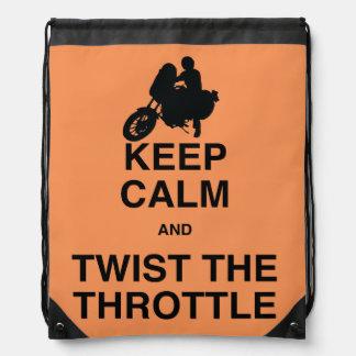 Keep Calm and Twist the Throttle - Cruiser/Harley Drawstring Bags