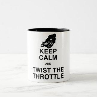 Keep Calm and Twist the Throttle Two-Tone Mug
