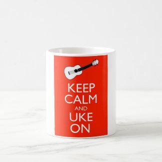 Keep Calm and Uke On! Basic White Mug