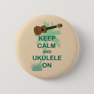 Keep Calm and Ukulele On Unique Fun Print 6 Cm Round Badge