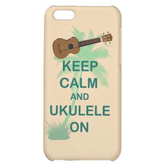 Keep Calm and Ukulele On Unique Fun Print iPhone 5C Case
