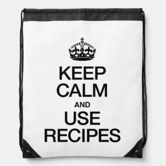 KEEP CALM AND USE RECIPES BACKPACK