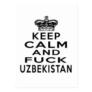 KEEP CALM AND UZBEKISTAN POSTCARD