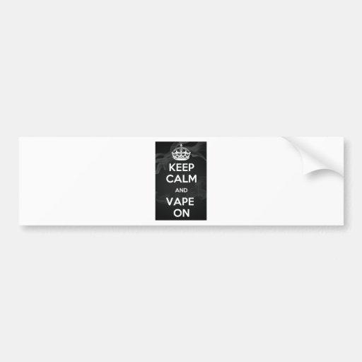 Keep Calm and Vape On Bumper Sticker