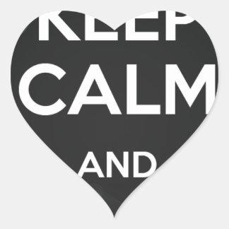 Keep Calm and Vape On Heart Sticker