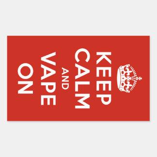 Keep Calm and Vape On Rectangular Sticker