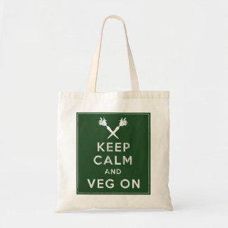 Keep Calm and Veg On Tote Bag