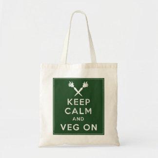 Keep Calm and Veg On Budget Tote Bag