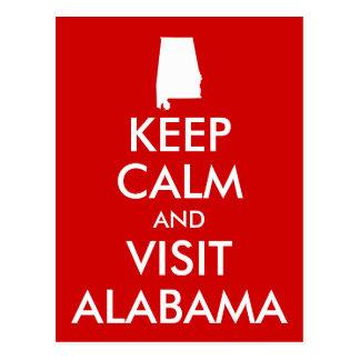Keep Calm and Visit Alabama Postcard