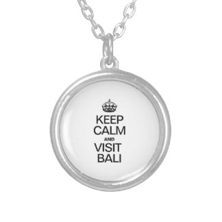 KEEP CALM AND VISIT BALI ROUND PENDANT NECKLACE