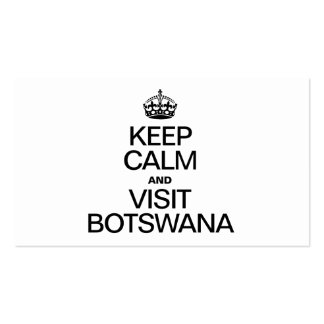 KEEP CALM AND VISIT BOTSWANA PACK OF STANDARD BUSINESS CARDS