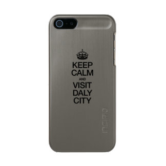 KEEP CALM AND VISIT DALY CITY INCIPIO FEATHER® SHINE iPhone 5 CASE