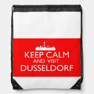 Keep Calm and Visit Dusseldorf Drawstring Backpack