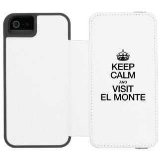 KEEP CALM AND VISIT EL MONTE INCIPIO WATSON™ iPhone 5 WALLET CASE