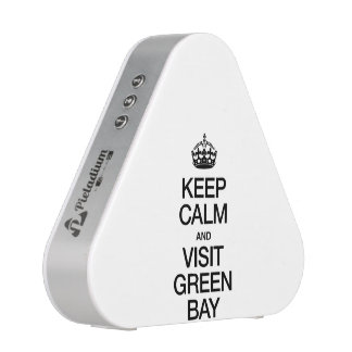 KEEP CALM AND VISIT GREEN BAY BLUETOOTH SPEAKER