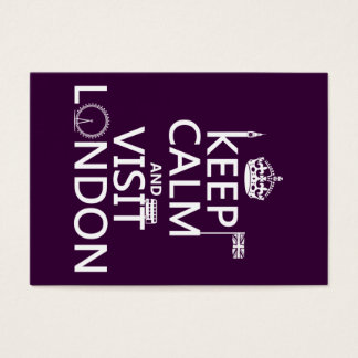 Keep Calm and Visit London Business Card