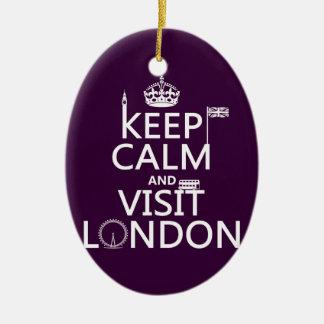 Keep Calm and Visit London Christmas Ornament