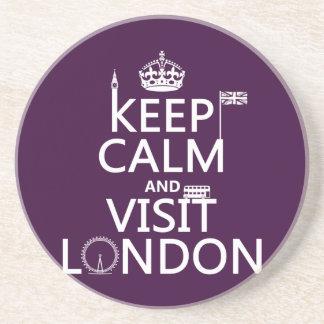 Keep Calm and Visit London Coaster