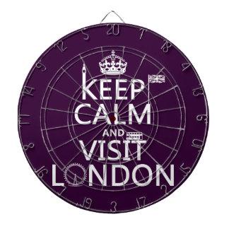 Keep Calm and Visit London Dartboard