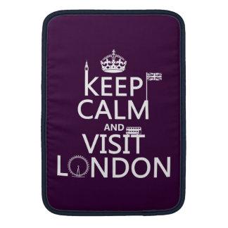 Keep Calm and Visit London MacBook Sleeve