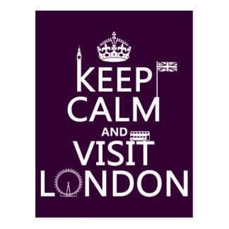 Keep Calm and Visit London Postcard