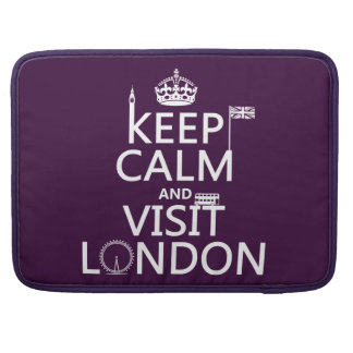 Keep Calm and Visit London Sleeve For MacBook Pro