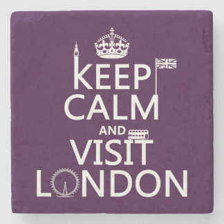 Keep Calm and Visit London Stone Coaster