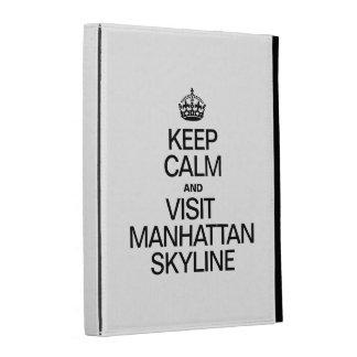 KEEP CALM AND VISIT MANHATTAN SKYLINE iPad CASE